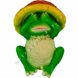 Садовая фигурка Лягушка в шляпе