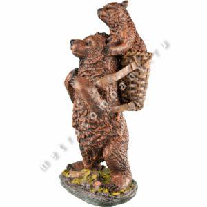Садовая фигурка Медведь с медвежонком