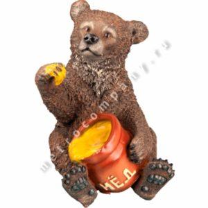 Садовая фигурка Медвежонок с медом