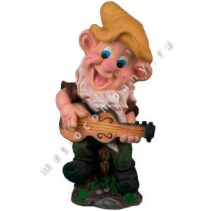 Садовая фигурка Гном с гитарой