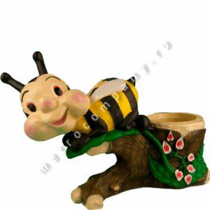 Садовая фигурка Пчела с кашпо
