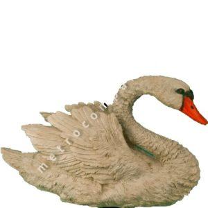 Садовая фигурка Лебедь с расправленными крыльями